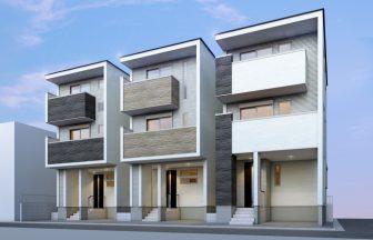 建築パース。江東区の戸建・外観。
