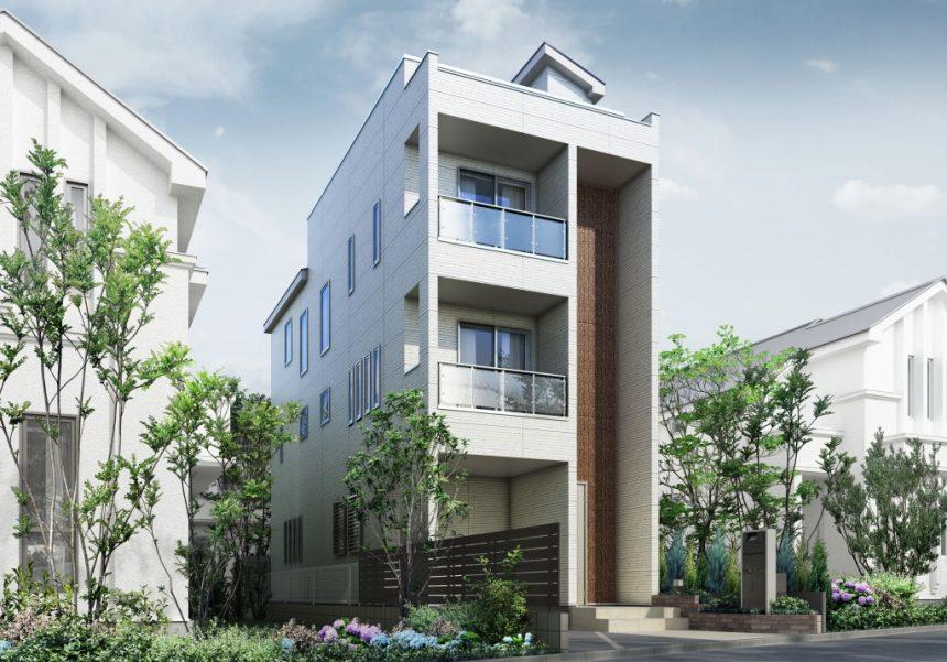 建築オーダーパース。板橋区の戸建・外観。