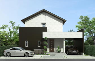 建築オーダーパース。戸建・外観。
