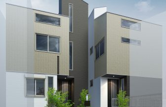 建築パース。戸建・外観。