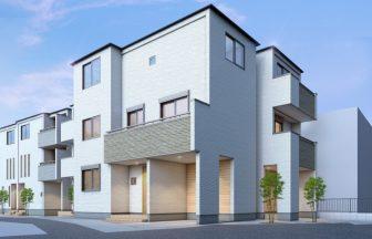 建築パース。東京23区東部の戸建・外観。