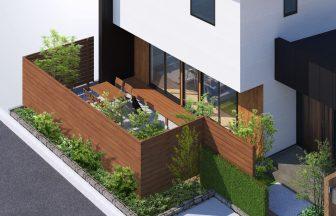 建築パース。山形市の戸建・外観。