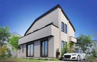 建築オーダーパース。羽村市の戸建・外観。