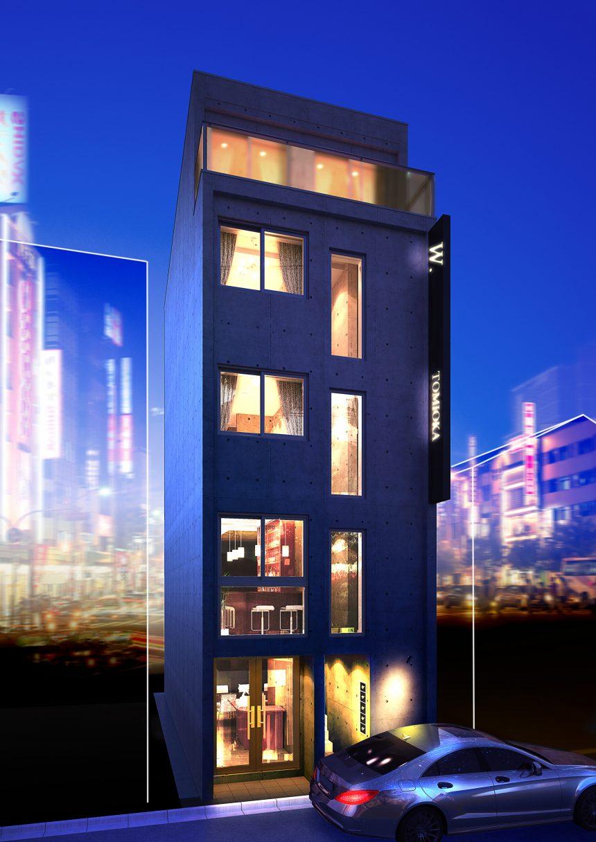 建築オーダーパース。江東区の商業ビル・外観。