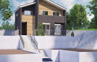 建築パース。日野市の戸建・外観。