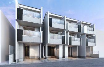 建築パース。浦和市の戸建・外観。