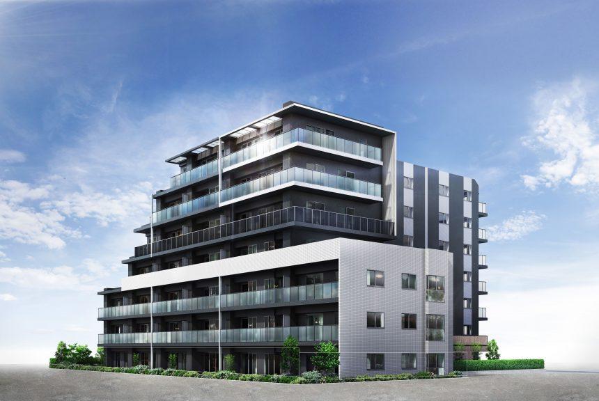 建築オーダーパース。江戸川区のマンション・外観。