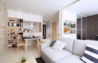建築オーダーパース。海外のマンション・内観。