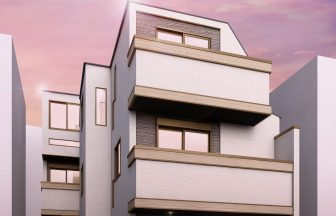 建築パース。大田区の戸建・外観。