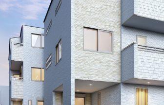 建築パース。荒川区の戸建・外観。