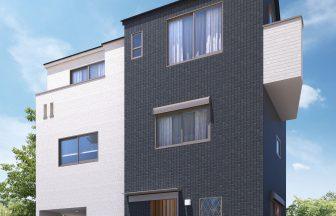 建築オーダーパース。新宿区の戸建・外観。