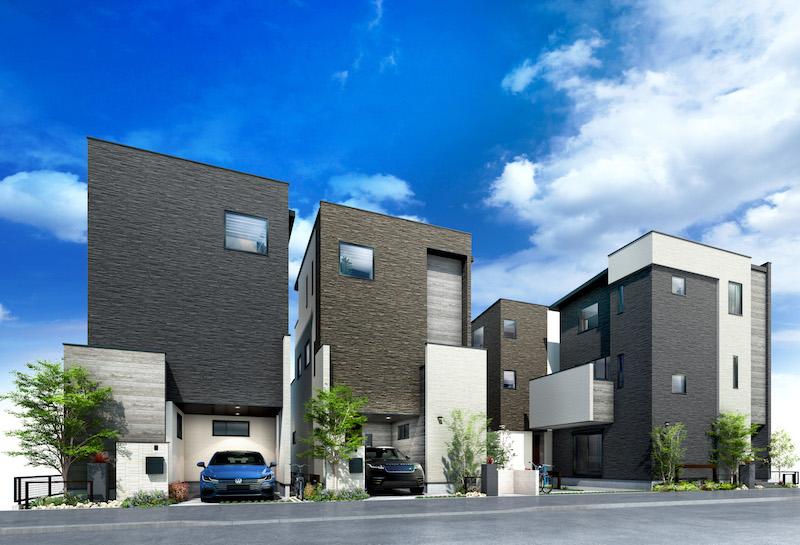 建築オーダーパース。柏市の戸建・外観。