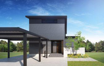 建築オーダーパース。北陸の戸建・外観。