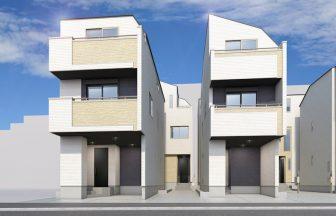 建築パース。平戸市の戸建・外観。
