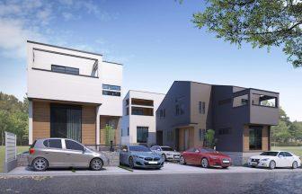 建築パース。町田市の戸建・外観。