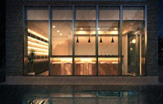 建築パース。台東区の戸建・外観。