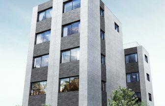 建築オーダーパース。目黒区のマンション・外観。
