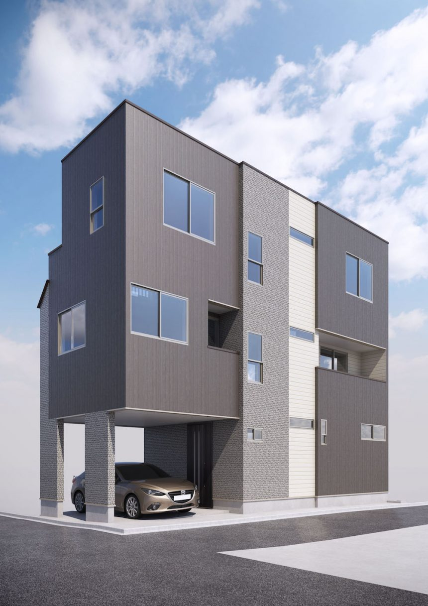 建築パース 世田谷区の戸建・外観 - 209