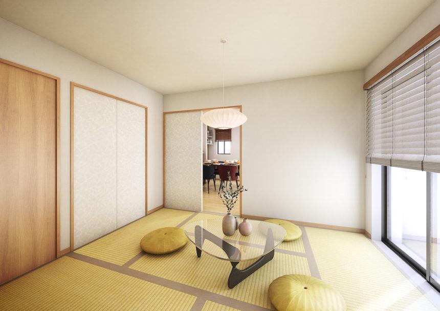 建築パース。栃木県小山市の戸建・内観。