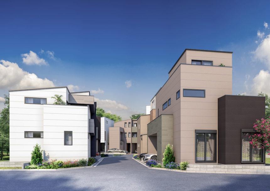 建築オーダーパース。川崎市の戸建・外観。