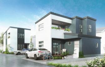 建築オーダーパース。小平市の戸建・外観。