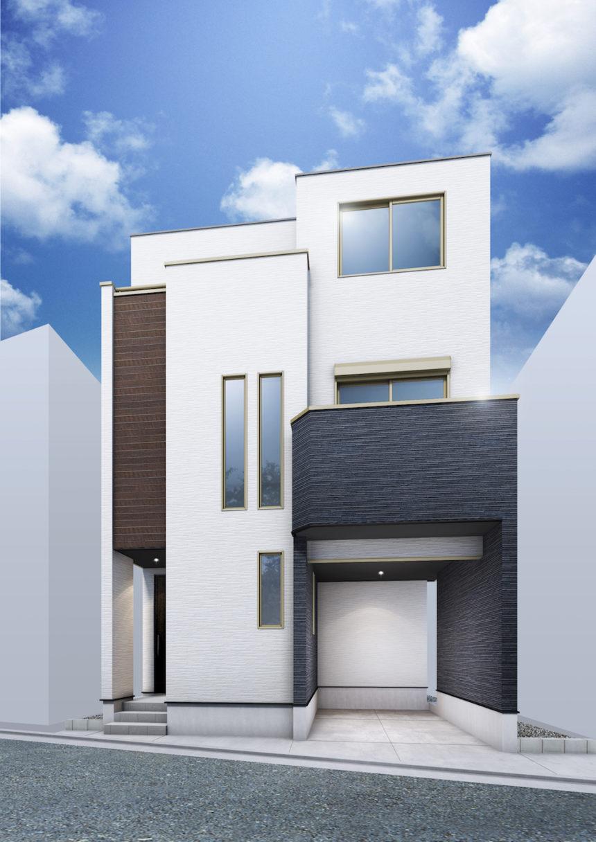 建築パース_戸田市の戸建て外観