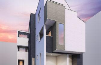 建築パース_福岡市の戸建外観