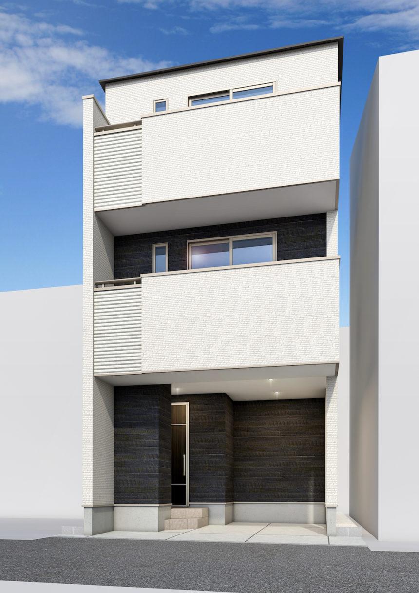 建築パース_福岡市の戸建て外観
