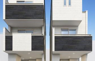 建築パース_川崎市の戸建て2棟現場