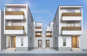 建築パース。福岡市の戸建・外観。