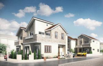 建築パース_三鷹市の戸建て多棟現場の外観