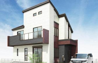 建築オーダーパース。三鷹市の戸建・外観。