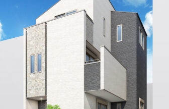 建築パース。戸田市の戸建・外観。