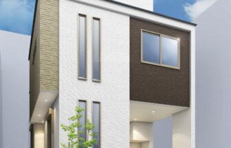 建築パース。江戸川区の戸建・外観。