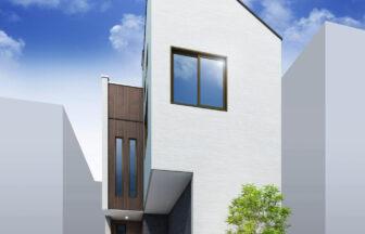 建築パース。練馬区の戸建・外観。