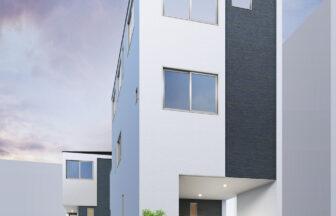 建築パース。川口市の戸建・外観。