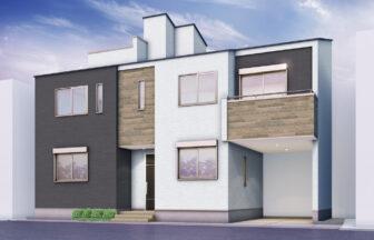 建築パース。豊島区の戸建・外観。